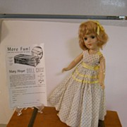 "REDUCED 14"" Mary Hoyer 1940's Composition in Mary Hoyer Doll Chest w/ Accessories"