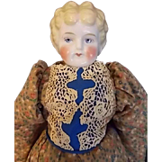 "16""  1890's Blond China Head on Cloth Body"