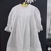 "Lovely Vintage White Cotton Dress to Fit a 36"" to 40""+Bisque Doll"