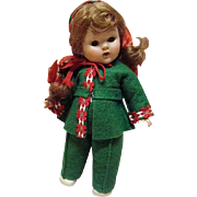 "REDUCED Vogue Ptd Lash Red-Head Ginny 1953 ""Gadabout Series"" Skier"