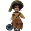 Vogue Ginny - Davy Crockett 1955 Molded Lash Str Leg Walker