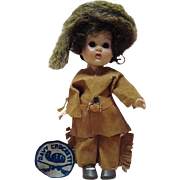 REDUCED Vogue Ginny - Davy Crockett 1955 Molded Lash Str Leg Walker