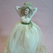 Galuba-Hoffman 6-3/4 In. Half Doll on Cloth Body with Bisque Legs