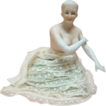 Nude Porcelain German Half Doll, Arms Away with Long Gloves