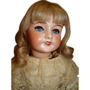 18-1/2 In. French SFBJ Unis Bisque Head Bebe Doll, Original Body