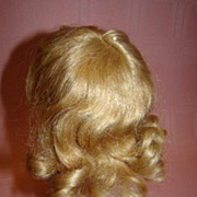 "9.5"" Cir. Sz 3 Human Hair Wig in Original Curly Style with Bangs"