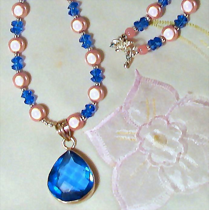 Tender Miracle Bead and Crystal 17 Inch Necklace
