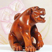 SOLD Heraldic Lion (Naturalistic Japanese Foo Dog)