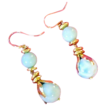 Double Dangling Heavenly Blue Caribbean Larimar Earrings