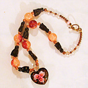Black Kitty Cat Halloween Theme Necklace