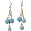 Larimar and Sterling Silver Chain Earrings