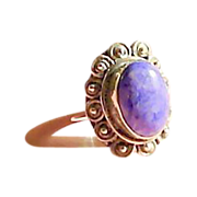 Vintage Purple 7.5 Sterling Silver Ring