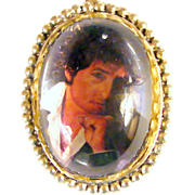 SALE 40x30mm Bob Dylan Magnified Pendant