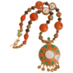 Nepal Pendant on 24 Inch  Necklace Rich With Nepalese Beads