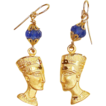 Handcrafted Egyptian Queen Nefertiti Earrings