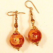 Golden Dragon Pierced Earrings