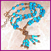 SALE Sleeping Beauty Turquoise Necklace 18 Inches