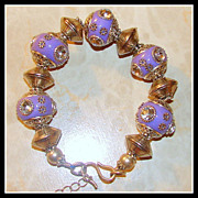 SOLD Studded 7.5 Inch Lavender Bracelet with Extender Chain