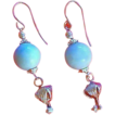 Larimar and Sterling Silver Bleeding Hearts Earrings