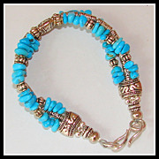 Sleeping Beauty Turquoise 7.5&quot; Bracelet with Extender Chain