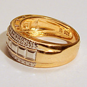 Pre-owned Vintage 6.75 Sterling and Vermeil Ring