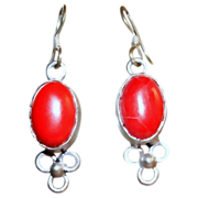 Vintage Red Stone Earrings