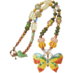 Springtime Necklace with Czech and Lampwork Beads