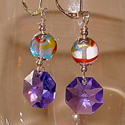 SOLD Austria & the Czech Republic Meet in Two Bead Crystal Earrings