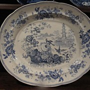 REDUCED Staffordshire Transferware Huge Platter Enoch Wood & Sons