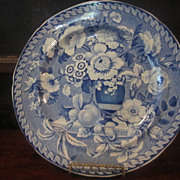 SOLD Staffordshire Transferware Dinner Plate- Floral- Meir - c.1828