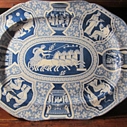 20 3/8 inch Staffordshire Transferware Platter: Spode: Greek