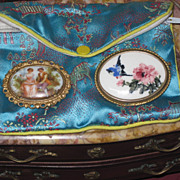 BEAUTIFUL Pair of Antique Victorian Hand Painted Brooches!