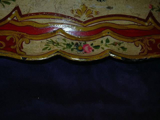 Old hand painted japan papier mache tray flowers fine for Papier mache art for sale
