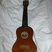 Old Barclay Miniature Guitar Ukulele Vintage Musical Instrument Woolworth