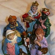 Nativity Set Old Italian Holy Family Wise Men 3 Kings Christmas Figurines