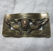 Antique Brooch Art Nouveau Flying Fish Family Crest Fine Old Jewelry