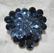 Eisenberg Brooch Sapphire Blue Rhinestone Pin  Fine Signed Designer Jewelry