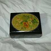 Old Lacquer thread Box With Florals