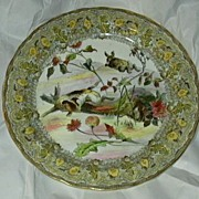 Royal Doulton Bursley Round Platter Hunting Scene Dog Rabbits