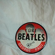Old Beatles Flasher Pin  Authentic