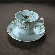 Heinrich Germany Demitasse Cup & Saucer Songbirds