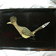 Couroc Bar Dining Tray Roadrunner Pleasant Bird
