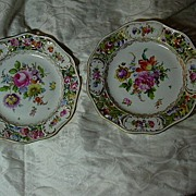 Set 8 Carl Thieme Antique Dresden Dessert Plates Hand Painted Flowers