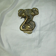 Old Brass English Swans Door Knocker