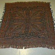 Antique Paisley Throw Weaving Scarf Shawl Tapestry