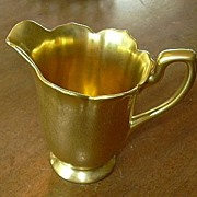 Shiny Gold Brocade Creamer Cream Pitcher Fine Dining