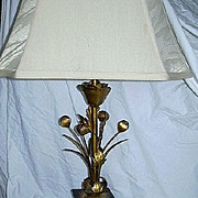 Italian Florentine Gold Gilt  Lamp Fine Lighting Italy