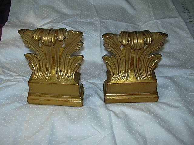 Pair Old Borghese Gold Bookends