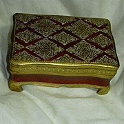 SALE PENDING Italian Florentine Gold Gilt & Hand Painted Footed Box