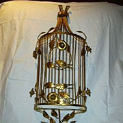 Florentine Gold Gilt Wall Decorative Bird Cage